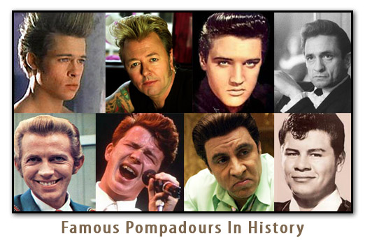 with vintage culture has seen the pompadour hair style be adopted by the